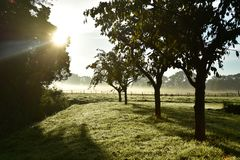 Sunrise. On a beautiful morning in Holland Stock Photos