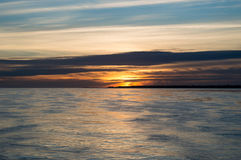 Sunrise. Beautiful sunrise over the horizon royalty free stock image