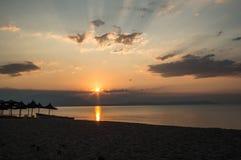 Sunrise. Beautiful sunrise over the seaside Stock Photo