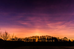 Sunrise. A beautiful play of colors in the sunrise Royalty Free Stock Photo