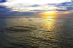 Sunrise beautiful shadow Stock Images