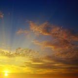 sunrise and beautiful sky Royalty Free Stock Image