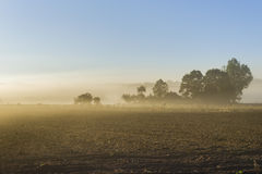 Sunrise in a beautiful small village Royalty Free Stock Photo