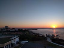 Sunrise. Beautyful sunrise on royan Stock Photos