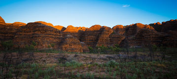 Sunrise on the Beehives - Bungle Bungles, Kimberley, Western Aus. From a 1 hour timelapse series commencing in darkness at the Picaninny Creek Carpark, when the royalty free stock images
