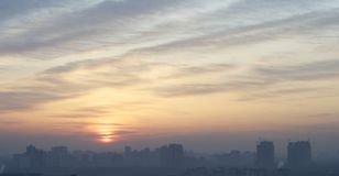 Sunrise in beijing Stock Photos