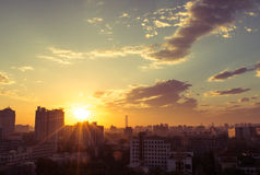 Sunrise in Beijing Stock Photo