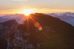 Sunrise at Benediktenwand Royalty Free Stock Images