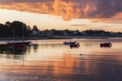 Sunrise in Benodet Stock Photography
