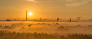 Sunrise in Berlin Royalty Free Stock Photography
