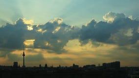 Sunrise Berlin Skyline stock video
