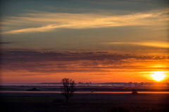 Sunrise. Biebrza National Park - Biebrza backwaters Stock Photos