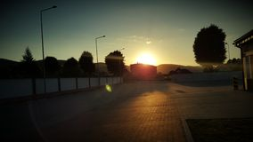 Sunrise. In bielawa. Sudety mountains Stock Image