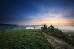 Sunrise in the the Bieszczady Royalty Free Stock Photo