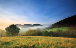 Sunrise in the the Bieszczady Royalty Free Stock Photography