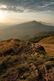 Sunrise in Bieszczady Mountains, Poland Royalty Free Stock Photography