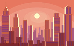 Sunrise in the big city Stock Photo