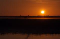 Sunrise at the billabong royalty free stock photo