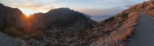 Sunrise about Biokovo in Croatia Stock Image