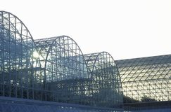 Sunrise at Biosphere 2 at Oracle in Tucson, AZ stock photos