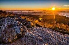 Sunrise, Black Balsam Blad, blue Ridge Parkway Royalty Free Stock Photography