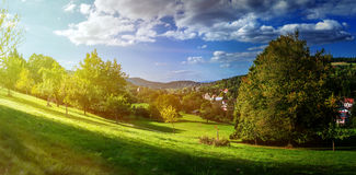 Sunrise in the Black Forest. Royalty Free Stock Photos