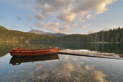 Sunrise at Black Lake, Durmitor National Park Stock Image
