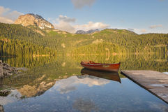 Sunrise at Black Lake, Durmitor National Park Stock Images