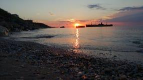 Sunrise at the Black Sea royalty free stock photo