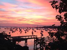 Sunrise blanket over Marblehead royalty free stock images