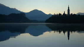 Sunrise in Bled Royalty Free Stock Images