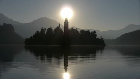 Sunrise in Bled Stock Photos