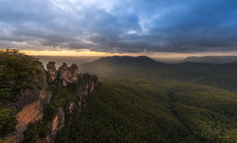 Sunrise from Blue Mountains national park. Royalty Free Stock Image