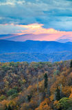 Sunrise Blue Ridge Mountains North Carolina Stock Photos