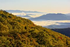 Sunrise On the Blue Ridge Parkway stock photo