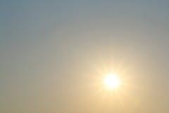 Sunrise and blue sky background Royalty Free Stock Image