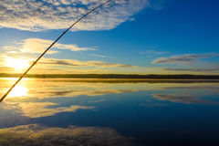Sunrise from boat. royalty free stock photos