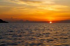 sunrise boat       thailand kho tao bay coastline south china sea Stock Photo