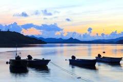 Sunrise boats Royalty Free Stock Photo