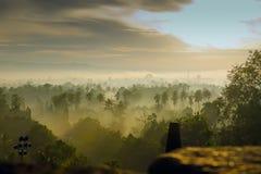 Sunrise in Borobudur Royalty Free Stock Photography