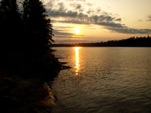 Sunrise in boundary waters Stock Photos