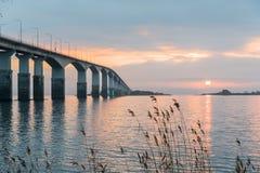 Sunrise by the bridge Stock Photo