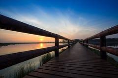 Sunrise bridge Royalty Free Stock Photo