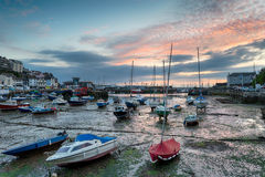 Sunrise at Brixam in Devon Stock Photos