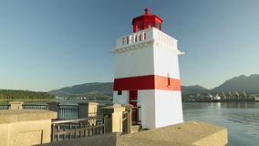Sunrise Brockton Point Lighthouse, Burrard Inlet Royalty Free Stock Photography