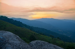 Sunrise at Broga Hill, Malaysia Stock Photo