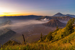 Sunrise at Bromo mountain. Indonesia Royalty Free Stock Photos