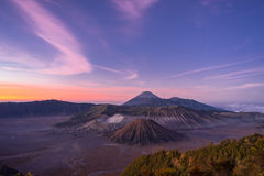 Before sunrise at Bromo mountain Stock Image
