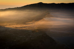 Sunrise at Bromo mountain village Stock Image