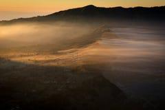 Sunrise at Bromo mountain village. Indonesia Stock Image